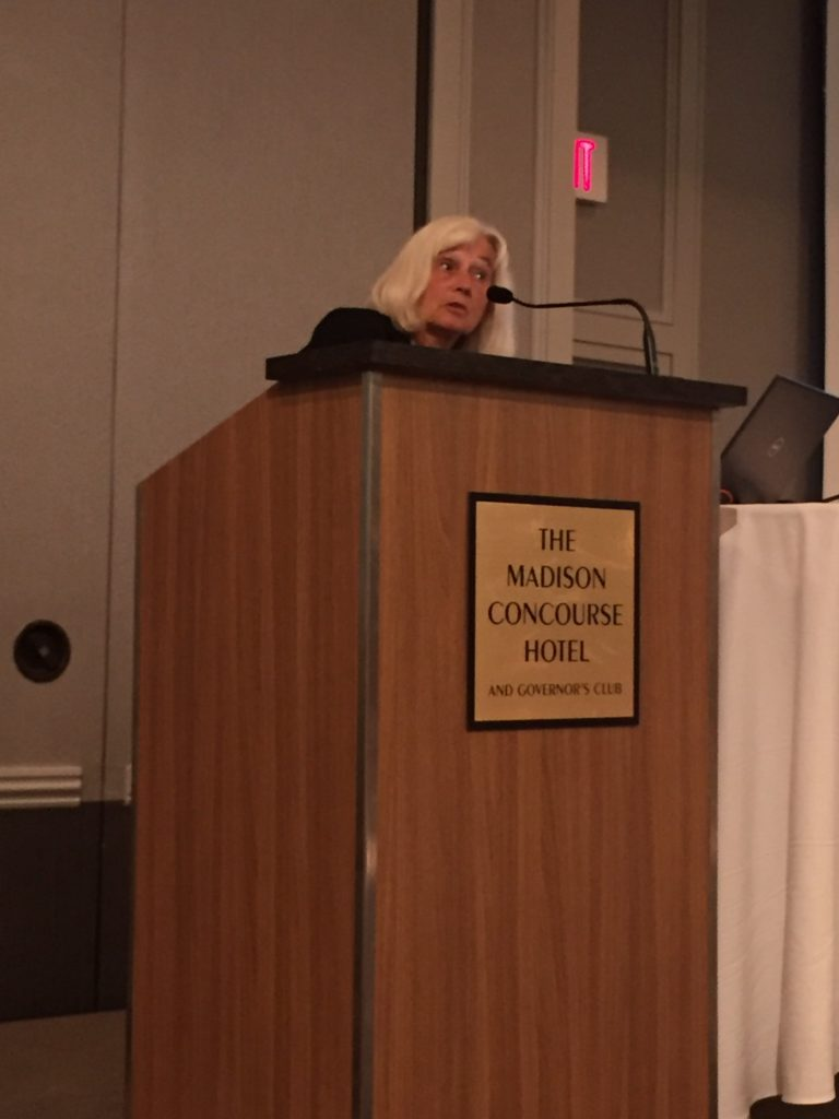 Wisconsin Sleep Society member is talking at the annual conference.